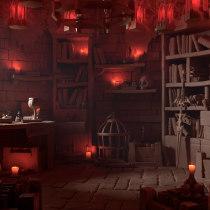 Denathrius's Room. Un proyecto de 3D, Modelado 3D y Diseño 3D de Mario Sánchez Aguado - 10.04.2021