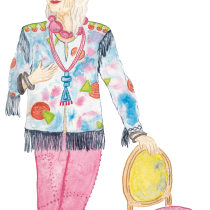 My project in Illustration and Character Development with Watercolor course. Um projeto de Ilustração de Alma M - 04.04.2021