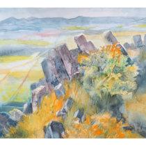 My project in  Natural Landscapes in Watercolor . Un progetto di Disegno, Pittura ad acquerello , e Pittura acrilica di Alena Prosecova - 13.04.2021