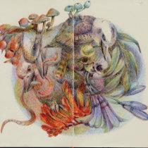 My project in Surrealist Illustration Inspired by Nature course. Un projet de Dessin de AKO LAMBLE - 15.04.2021