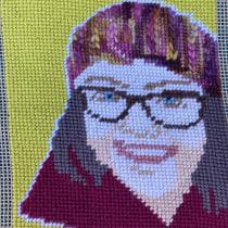 My project in Cross-Stitch Portrait Creation course. Un projet de Tissage de Kimberly S - 20.04.2021