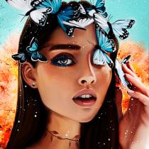 Mi Proyecto del curso: Retrato de personajes femeninos con Photoshop (No tengo Procreate XD). A Creativit, Digital illustration, and Digital Painting project by María Sol Burgos - 04.21.2021