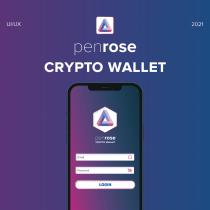PenRose Crypto wallet app. Un progetto di UI/UX di Noel Ružić - 23.04.2021