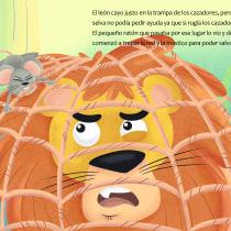 El león y el ratón: Ilustración digital para cuentos infantiles. Um projeto de Design editorial, Ilustração infantil e Desenho digital de Alan Rodriguez - 23.04.2021