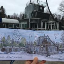 My project in Urban Sketching: Express Your World in a New Perspective course. Un proyecto de Ilustración, Pintura, Bocetado, Stor, telling y Sketchbook de Maria Maksakova - 25.04.2021