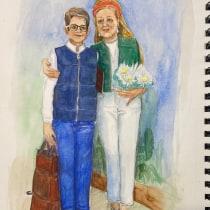 My project in Illustration and Character Development with Watercolor course. Um projeto de Ilustração de Liana Musatova - 28.04.2021