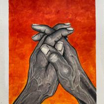 Painting old hands as storytellers and their reliefs as landscapes. Un proyecto de Pintura acrílica de Pedro Fiori Arantes - 02.05.2021