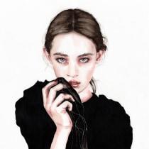 Mein Kursprojekt: Aquarellporträt mit fotografischem Vorbild. Un progetto di Pittura ad acquerello di Tina Ritter - 09.05.2021