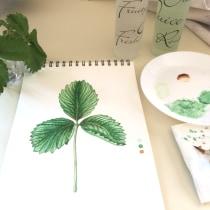 My project in Botanical Illustration with Watercolors course. Um projeto de Ilustração de Mihaela Price - 10.05.2021
