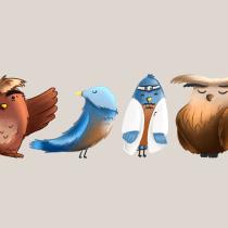 My project in Character Creation for Animation: Shapes, Color, and Expression course. Un proyecto de Ilustración y Diseño de personajes de bella_m - 11.05.2021