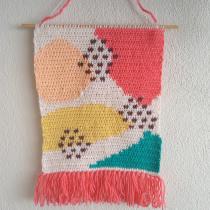 Mi Proyecto del curso: Intarsia crochet: teje tus propios tapices. A Fashion, Fashion design, Decoration, Fiber Arts, DIY, and Crochet project by hellua08 - 05.18.2021