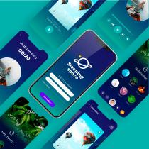 Mi Proyecto del curso: Diseño de una aplicación móvil. A UI / UX, Mobile design, Digital Design, and Mobile App Design project by Denhy Monroy - 04.07.2021