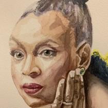 Mi Proyecto del curso: Retratos en acuarela: captura la personalidad de tu modelo. A Fine Art, Painting, Watercolor Painting, Portrait illustration, and Portrait Drawing project by Rocío - 05.22.2021