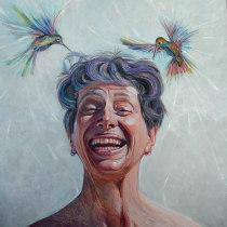 Mi Proyecto del curso:  La felicidad. Un progetto di Illustrazione, Pittura, Illustrazione di ritratto , e Pittura ad olio di Liliana Quintero - 26.05.2021