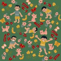 My project in Vector Pattern Illustration for Beginners course @saratomate. Un projet de Design , Illustration, Création de motifs , et Estampillage de Shalini Soni Mazumdar - 18.05.2021