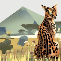 My project in Wildlife Illustration for Children's Books course. Un progetto di Illustrazione, Belle arti, Illustrazione vettoriale e Illustrazione digitale di lily - 23.05.2021
