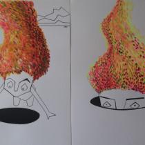 Mi Proyecto del curso: Ilustración con pintura y técnica mixta. Um projeto de Ilustração, Artes plásticas, Pintura, Pintura Acrílica e Pintura a óleo de Ivana Alan - 29.05.2021