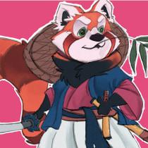 Meu projeto do Design de Personagens: Panda Vermelho Samurai. A Animation, Character Design, and Character animation project by Henrique Matos - 05.31.2021