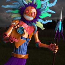 Mi Proyecto del curso: Modelado de personajes en Maya. Un proyecto de 3D y Modelado 3D de Anggelo Martel - 01.06.2021