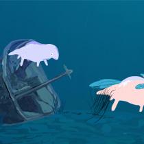 Badecima (Parte de video clip en proceso): Collage animado con Adobe After Effects. Un proyecto de Animación, Collage, Animación 2D y Edición de vídeo de Paula Abalos - 01.06.2021