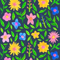 My project in Vibrant Floral Patterns with Watercolors course. Un progetto di Illustrazione, Design Pattern, Pittura ad acquerello e Illustrazione botanica di Jessi Castillø - 02.06.2021