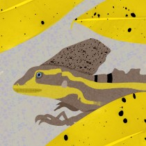 Brown Basilisk in Wildlife Illustration for Children's Books course. A Vector Illustration, Digital illustration, and Children's Illustration project by Zach - 06.02.2021