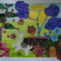 Meu projeto do curso: Ilustração narrativa infantil com técnicas mistas. Un proyecto de Ilustración, Collage, Dibujo a lápiz, Ilustración infantil, Narrativa y Pintura gouache de Teresinha Fitas - 05.06.2021