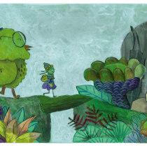 Mi Proyecto del curso: Ilustración narrativa infantil con técnicas mixtas. Un proyecto de Ilustración, Collage, Dibujo a lápiz, Ilustración infantil, Narrativa y Pintura gouache de Josefina Crembil - 01.06.2021