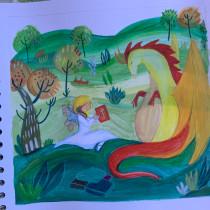 Fatapinta. Un proyecto de Ilustración, Collage, Dibujo a lápiz, Ilustración infantil, Narrativa y Pintura gouache de Alessia Meini - 04.06.2021