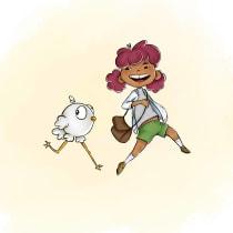 Chloe e Toto por Bruna Raphaela. A Animation, Character Design, and Character animation project by Bruna Raphaela - 06.07.2021