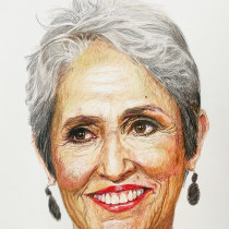 My project in Realistic Portrait with Coloured Pencils course - Joan Baez. A Illustration, Fine Art, Pencil drawing, Drawing, Portrait illustration, Portrait Drawing, Realistic drawing, and Artistic drawing project by Rishiraj - 06.06.2021