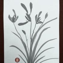 Meu projeto do curso: Introdução à pintura sumi-ê. A Illustration, Collage, Drawing & Ink Illustration project by Jacqueline Teixeira Câmara - 06.09.2021