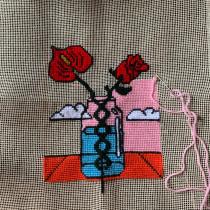 My project in Cross-Stitch Creation course. Un projet de Illustration, Broderie, Illustration textile , et Décoration d'intérieur de Janaina da Veiga - 31.05.2021