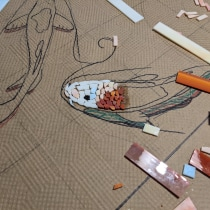 My project in Introduction to Mosaic Artwork course. A Crafts project by Hadas Wald - 06.10.2021