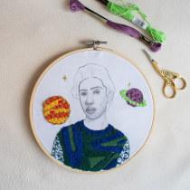 UN CHICO QUE INSPIRA . Un projet de Mode, Illustration de portrait, Broderie, Illustration textile , et Tissage de Elizabeth Maya - 13.06.2021