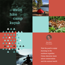 Final Project:  Color Theory Applied to Online Projects course: mobile site for state park. A Design, UI / UX, Graphic Design, Web Design, Mobile design, Digital Design, and Color Theor project by kim kovalick - 06.10.2021