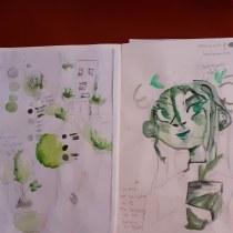Mi Proyecto del curso: Técnicas de ilustración para desbloquear tu creatividad. Un progetto di Design, Illustrazione, Musica e audio, Motion Graphics, Belle arti, Pittura, Creatività, Creatività con i bambini , e Sketchbook di kielsamatute - 17.06.2021