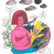 My project in Illustration Techniques to Unlock your Creativity course : an exhibition on Proserpine and Demeter's myth. Un progetto di Design, Illustrazione, Belle arti, Pittura, Creatività, Creatività con i bambini , e Sketchbook di ariane.arghyris - 20.06.2021