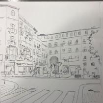 Mi Proyecto del curso: Arco de entrada a la plaza mayor de Salamanca. A Design, Illustration, Sketching, Architectural illustration, and Sketchbook project by JOSE Rodriguez Carcaño - 06.23.2021