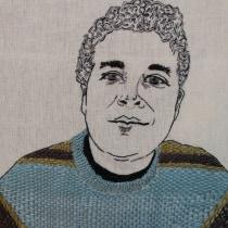 Mi Proyecto del curso: Creación de retratos bordados. A Portrait illustration, Embroider, and Textile illustration project by cvelardesoto - 06.19.2021