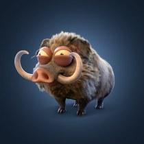 Wild Pig: Creación de pelo 3D con XGen de Maya . A 3D, 3d modeling, 3D Character Design, and Design 3D project by Esteban Erazo Toscano - 06.24.2021