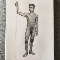Mi Proyecto del curso: Dibujo realista de la figura humana. Un proyecto de Ilustración, Bellas Artes, Bocetado, Dibujo a lápiz, Dibujo, Dibujo realista y Dibujo anatómico de Lucia Garcia - 01.07.2021