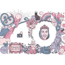My project in Doodle-Style Vector Illustration course. Um projeto de Ilustração, Ilustração vetorial e Ilustração digital de Kat Greenbrook - 30.06.2021