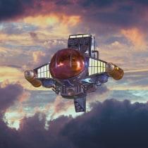 Mi Proyecto del curso: Diseño y modelado de una nave sci-fi en 3D. A 3D, 3d modeling, and Design 3D project by Cristian Riascos - 06.30.2021
