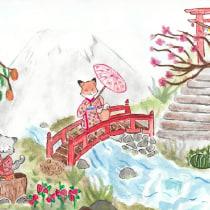 Mi Proyecto del curso: Ilustración en acuarela con influencia japonesa. A Illustration, Drawing, and Watercolor Painting project by Miranda Melissa Álvarez Guerrero - 07.05.2021