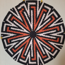 Mi Proyecto del curso: Tapestry circular: diseña patterns y complementos. Un progetto di Design di accessori, Moda, Design Pattern, Tessuto, DIY , e Uncinetto di Fabiola - 15.07.2021