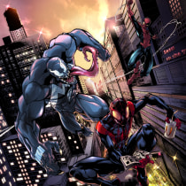 Mon projet du cours : Illustration pour BD : anatomie d'un super-héros. Um projeto de Ilustração, Design de personagens, Comic, Desenho a lápis e Desenho anatômico de fauryl - 16.07.2021