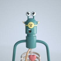 Mi Proyecto del curso: Diseño e ilustración 3D de personajes. Un proyecto de 3D, Diseño de personajes, Modelado 3D y Diseño de personajes 3D de Leslie Morales Subirana - 19.07.2021