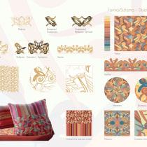 Mi Proyecto del curso: Creación de marca basada en tus propios estampados. Um projeto de Ilustração, Br, ing e Identidade, Design gráfico, Pattern Design, Design de moda, Ilustração têxtil e Ilustração botânica de Paula Ortega - 19.07.2021
