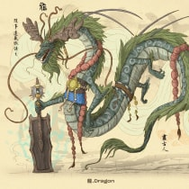 Chinese Zodiac - 十 二 生 肖. Um projeto de Ilustração, Animação, Design de personagens, Videogames e Design de videogames de Diego Zúñiga - 16.05.2021